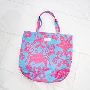 Lilly Pulitzer | Blue Pink Sea Medium Tote Bag